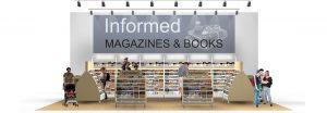 Magazine Racks Sales Display