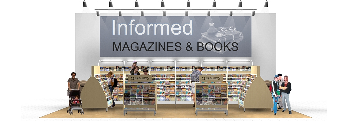 Magazine Racks Sales Display